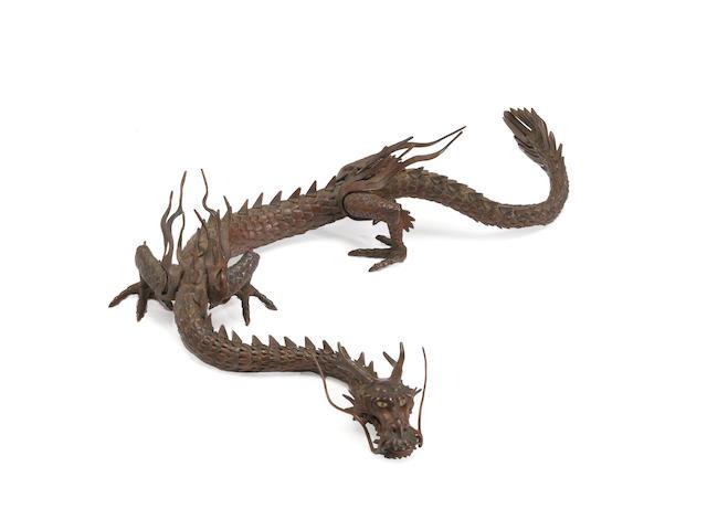 An articulated iron model of a dragon Myochin school, late 19th century