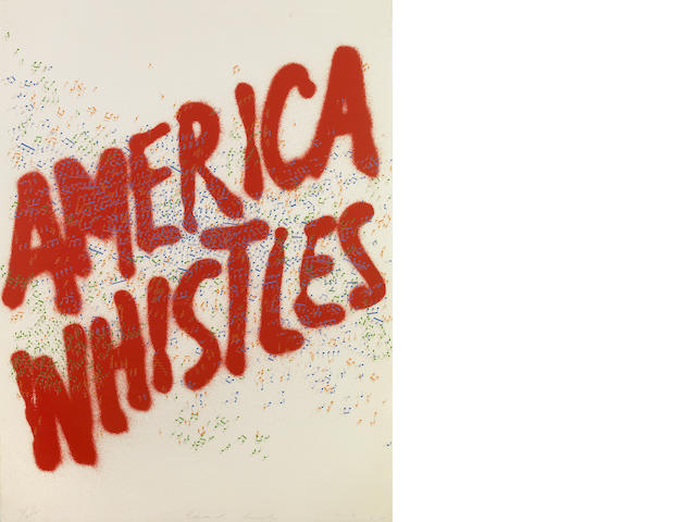 Edward Ruscha (American, born 1937); America Whistles, from America: The Third Century;