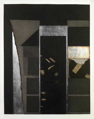 Louise Nevelson (American, 1899-1988); Untitled IV, from Aquatint and Collage ;
