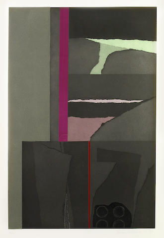 Louise Nevelson (American, 1899-1988); Untitled I, from Aquatint and Collage;