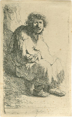 On inspection: Rembrandt, (Bartsch 174), Beggar Seated, Hind #11/