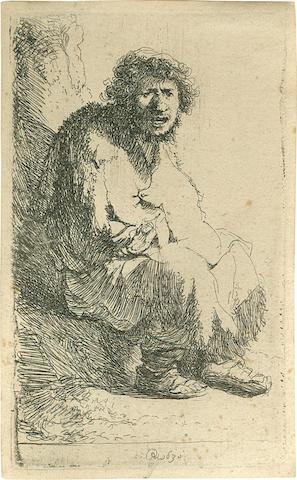On inspection: Rembrandt, (Bartsch 174), Beggar Seated, Hind #11/