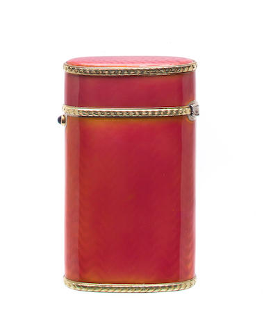 Britzin enameled cigarette case