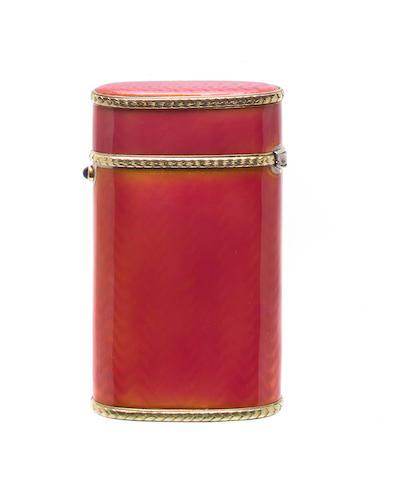 Britzin enameled cigarette case