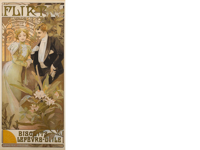 Alphonse Mucha (Czech, 1860-1939); Flirt Biscuits Lefebvre-Utile;
