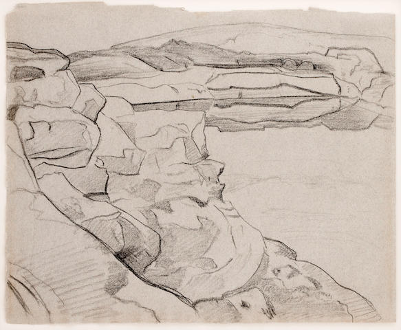 Nicholai Roerich, Three Sketches of Land of Giants