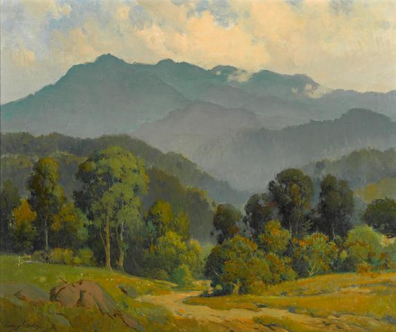 Percy Gray, Mount Tamalpias, oil on canvas.