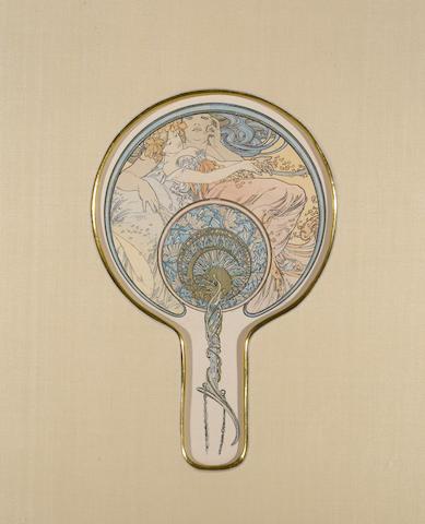 Alphonse Mucha (Czech, 1860-1939); Le vent qui passe emporte la jeunesse;
