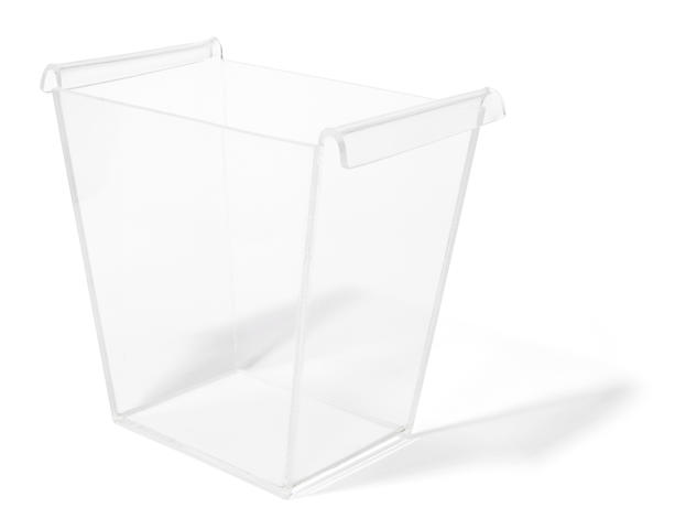 A William Haines acrylic wastepaper basket circa 1956