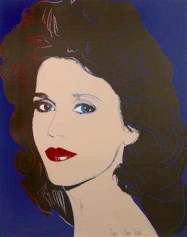 Andy Warhol (American, 1928-1987); Jane Fonda;
