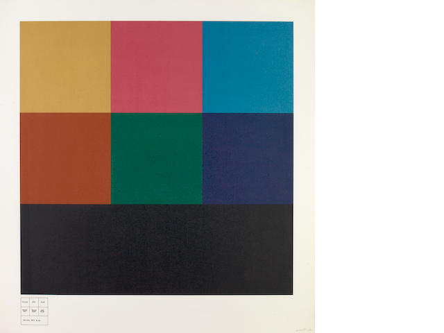 Sol LeWitt (American, 1928-2007); All One-, Two- and Three- Part Combinations on Three Transparent Colors;