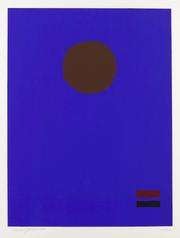 Adolph Gottlieb (American, 1903-1974); Blue Night;