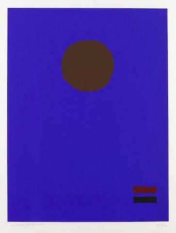 Adolph Gottlieb (American, 1903-1974); Blue Night;
