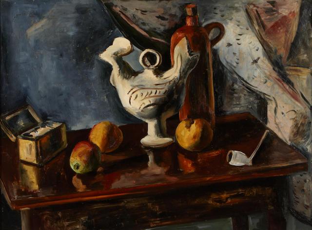 Leo Kahn (Israeli, 1894-1983) Still life 23 1/2 x 32in