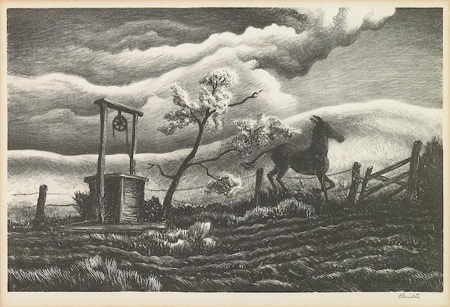 Thomas Hart Benton (American, 1889-1975); Frisky Day;