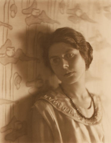 Edward Weston (American, 1886-1958); Portrait of a Lady (possibly Mary Buff, L.A. Socialite);