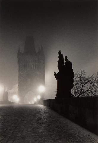 Michael Kenna (British/American, born 1953); Charles Bridge (Study 4), Prague, Czechoslovakia;