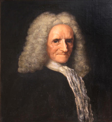 English School, early 18th Century A portrait of an elderly gentleman 24 x 20in
