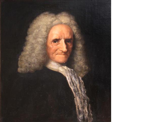 English School, early 18th Century  A portrait of an elderly gentleman 24 x 20in