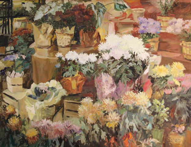 Michele Martin Taylor (American, born 1946) Kiku Rancho, 1983 36 x 48in