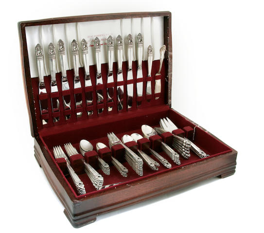 An International Silver sterling silver 'Royal Danish' flatware service Mid-20th century