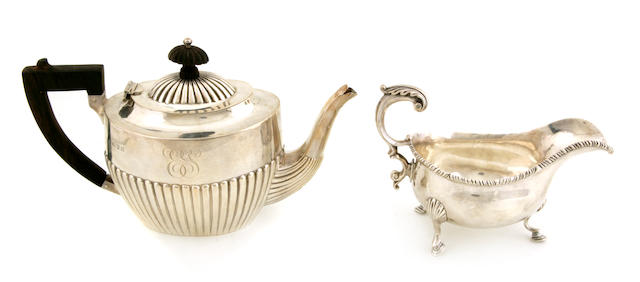 A Victorian sterling silver  teapot George Nathan & Ridley Hayes, Chester, 1896