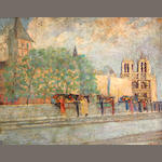 Unknown Artist Notre Dame Cathedral 25 1/2 x 32in