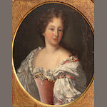 Follower of Jean Marc Nattier (Paris 1685-1766) A portrait of a lady 15 1/4 x 12in