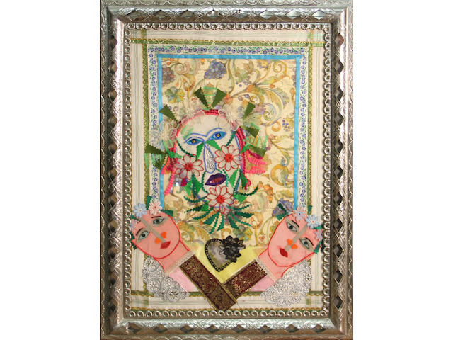Rodolfo Morales (Mexican, 1925-2001) Untitled framed 23 1/4 x 17in