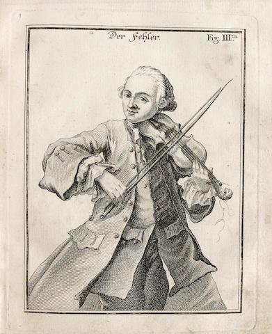 MOZART, LEOPOLD.  1719-1787. Versuch einer gründlichen Violinschule. Augsburg: Johann Jacob Lotter, 1756.