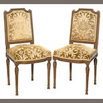 A pair of Renaissance style side chairs