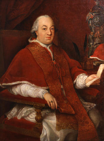 After Pompeo Girolamo Batoni A portrait of Pope Pius VI 47 1/2 x 35in
