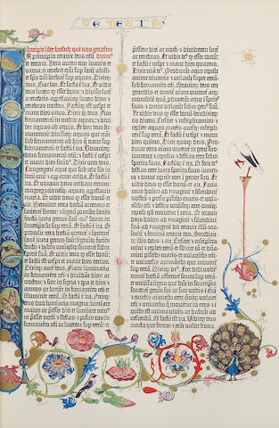 [GUTENBERG BIBLE.] [BIBLIA SACRA.] Paterson & New York: Pageant Books, 1961.