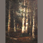 W. Webber, 20th Century Two ladies in the wood 36 x 26in
