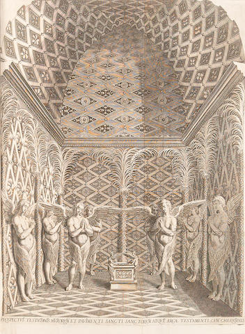 PRADO, JERONIMO. 1547-1595. & JUAN BAUTISTA VILLALPANDO. 1552-1608. In Ezechielem explanationes et apparatusurbis, ac templi heirosolymitani. Rome: Carolus Vuilliettus, 1596-[1605].