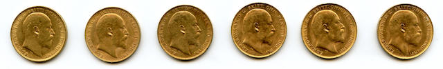 England, George V, Sovereigns (6)