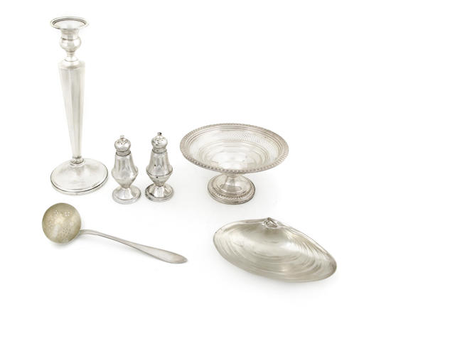 An assembled group of silver and sterling hollowware and utensils