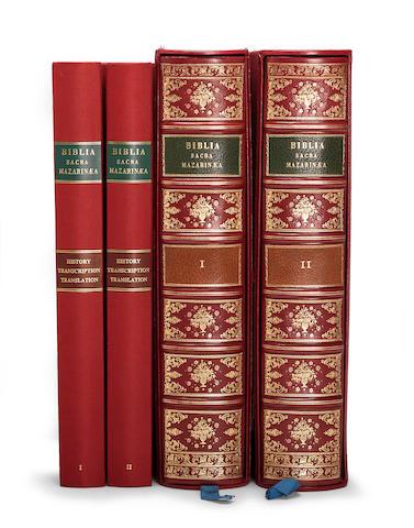 Gutenberg Bible. Mazarin Library copy. Facsimile 1985. 4 vols.