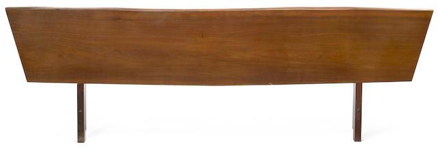 A George Nakashima walnut headboard 1956