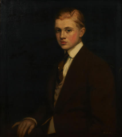 Maxmilian Aurel Reinitz Rasko (Hungarian/American, 1883-1961) A portrait of a gentleman, thought to be Eugene Saber 30 x 26in