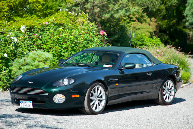 From the 'Italian Vintage Cars' Collection, 28,750 miles from new,2000 Aston Martin DB7 Vantage Convertible  Chassis no. SCFAB4232YK400155 Engine no. AM2/00155