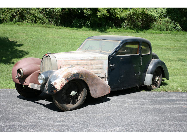 Barn discovery, single ownership since 1962 offered from the Estate of an Engineer,1938 Bugatti Type 57 Series 3 Ventoux Coupe  Chassis no. 57701 Engine no. 494