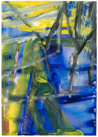 Gerhard Richter (b. 1932) Untitled (5.3.85) 1985  signed and dated 5.3.85 oil and watercolour on paper  34 by 24 cm. 13 3/8 by 9 7/16 in.
