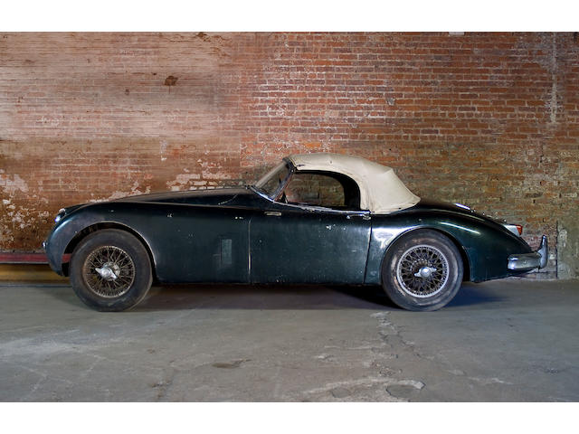 Barn discovery, 34,000 miles from new,1958 Jaguar XK150 3.4 Liter Roadster  Chassis no. S830228 Engine no. V3542-8