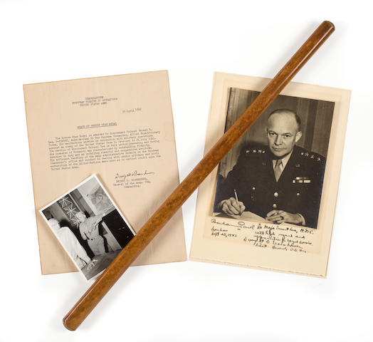 EISENHOWER, DWIGHT D. 1890-1969. IKE'S SWAGGER STICK.