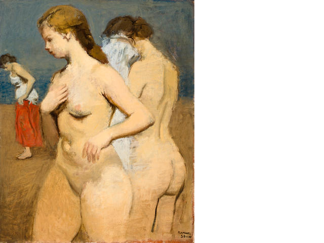 Raphael Soyer At the beach