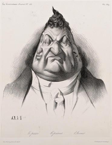 Honoré Daumier (French, 1808-1879); Le passé. Le présent. L'Avenir., Pl. 349, from La Caricature;