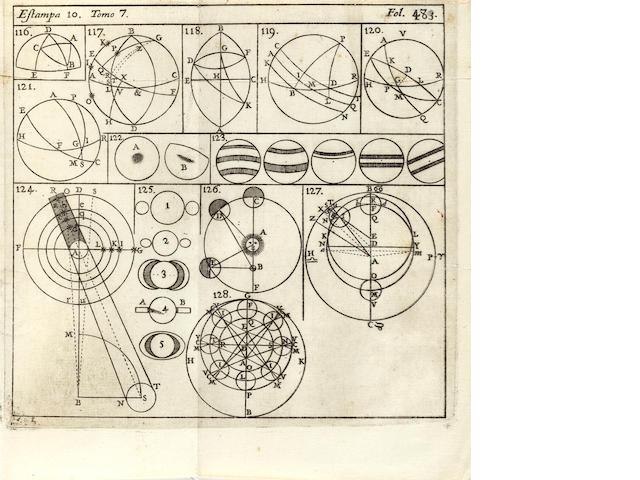 TOSCA, TOMAS VICENTE. 1651-1723. Compendio mathematico, en que se contienen todas las materias mas principales de las Ciencias, que tratan de la Cantidad. Madrid: Antonio Marin, 1727.
