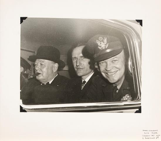 [CHURCHILL, WINSTON. 1874-1965.] Album containing 15 gelatin silver prints, 9 1/8 x 7 inches, [1946],
