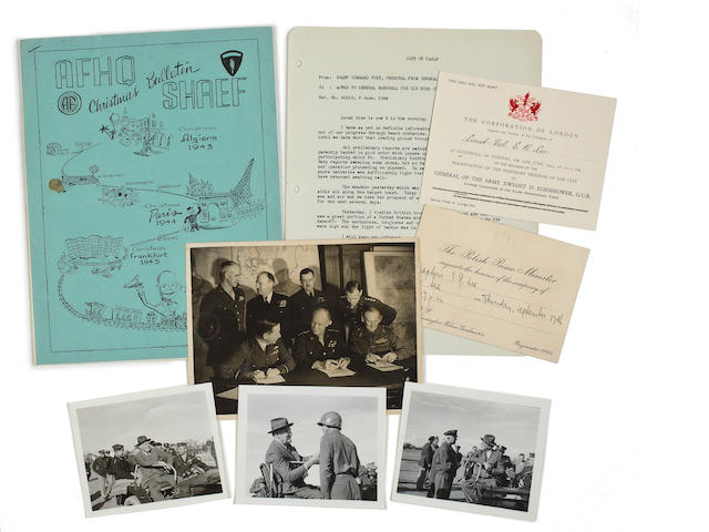 EISENHOWER4--EISENHOWER ARCHIVE AND PHOTOGRAPHY ARCHIVE OF HIS WWII AIDE-DE-CAMP.